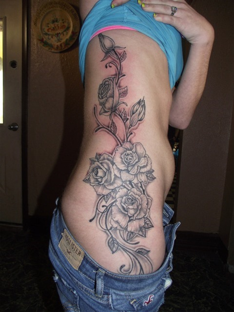 Amazing Side Rose Tattoos For Women My Xyz Blog