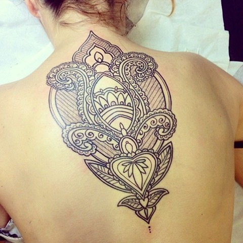 Cool Upper Back Tattoo Design For Girls My Xyz Blog